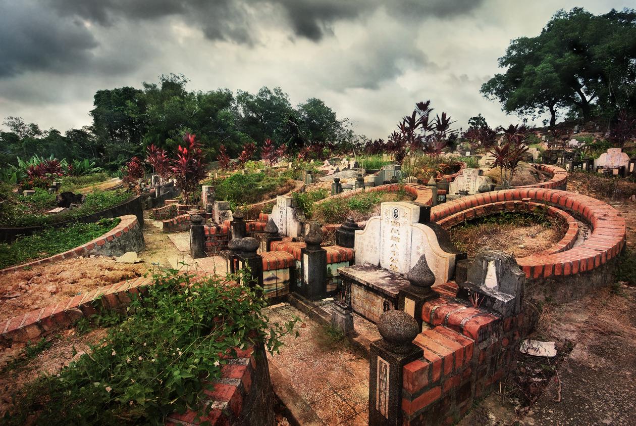 Yin-ház Feng Shui / Choa Chu Kang kínai temető, Szingapúr; by William Cho