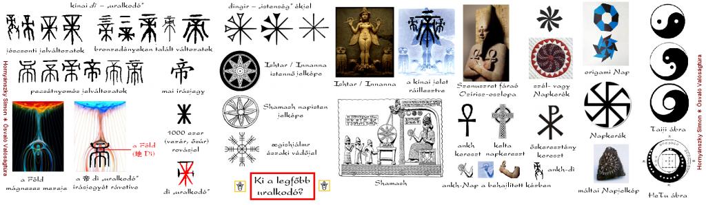 Ősvaló jelképek - di, dingir, ősúr, vezir, ezer